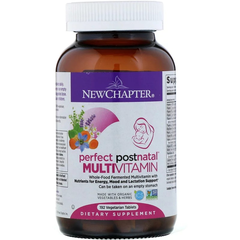 New Chapter, Мультивитамины Perfect Postnatal, 192 вегетарианские таблетки