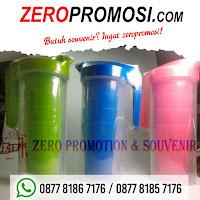 Active Jar, teko dengan bonus gelas di dalamnya, ceret ketel air minum, import murah, Teko Air Minum + Gelas 4 pcs