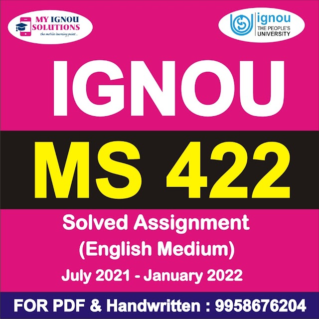 MS 422 Solved Assignment 2021-22