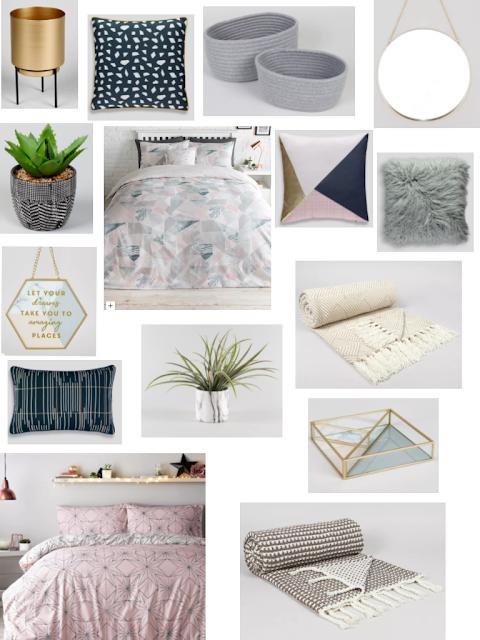 bedding, cushions, decorative ornaments