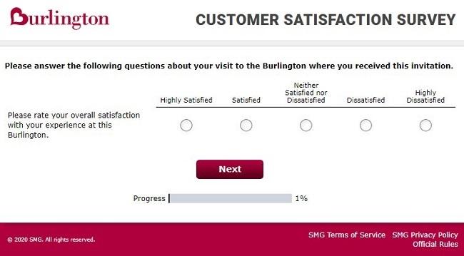 Burlington Stores Survey Sweepstakes