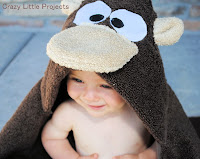 Monkey Hooded Towel Tutorial