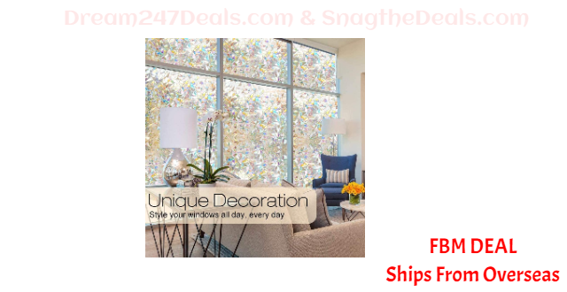 80%  off Home PVC Stained Glass Removable Non-Adhesive Static Cling Window Sticker