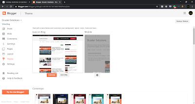 Select Blogger Theme Option
