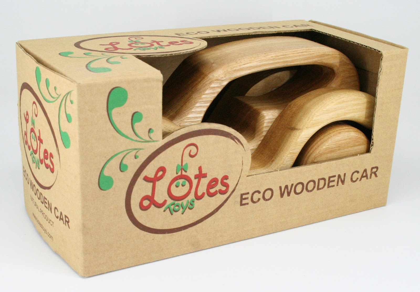 Lotes Wooden Toys New Eco Cars