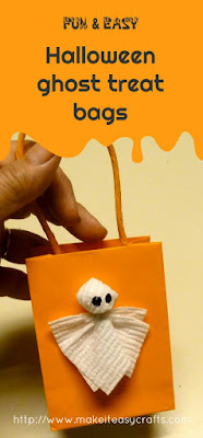 Halloween ghost treat bags