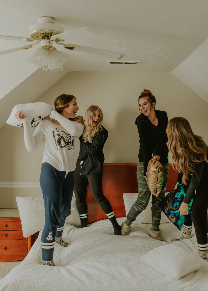 slumber party, sleepover, utah bloggers