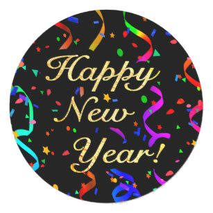 yellow text happy new year with black background