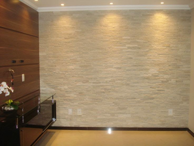15 paredes revestidas com pedras para inspirar voc for Ceramica para revestir paredes