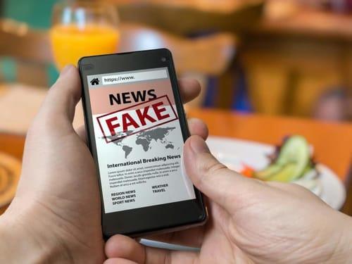Safari browser used to share fake news headlines