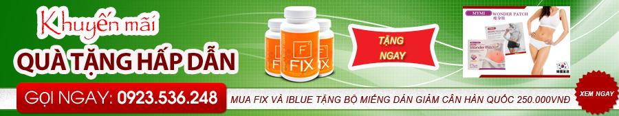 sản phẩm giảm cân Fix và Iblue khuyến mãi tại Shop thực phẩm chức năng 247
