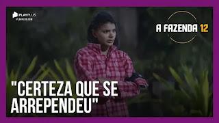 A Fazenda 12 – Jakelyne fala com Tays sobre estar chateada com a Lidi – Biel, Lipe e Mariano conversam
