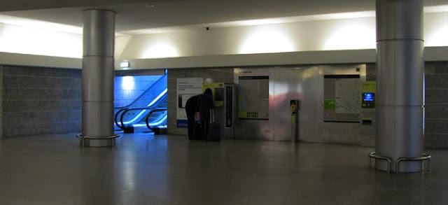 Estação de metro no Aeroporto do Porto