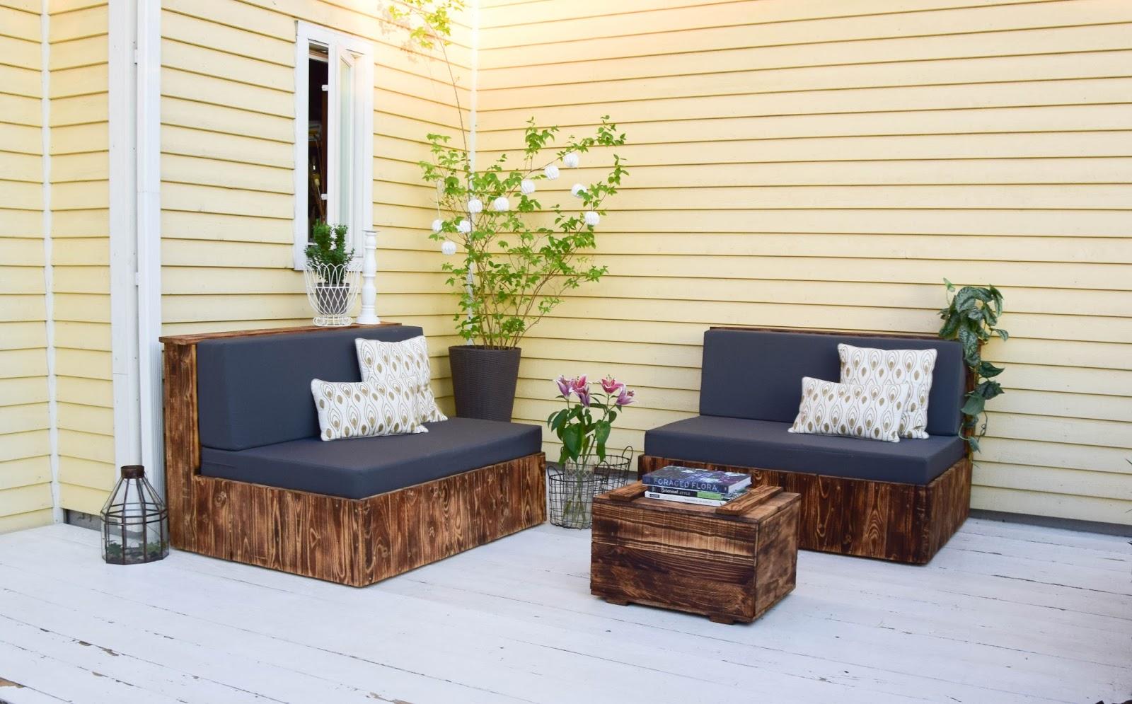 GroBartig Diy Paletten Sitzmöbel Für Terrasse Dekoidee Palettenmöbel Gestaltung Deko  Selbermachen Europaletten