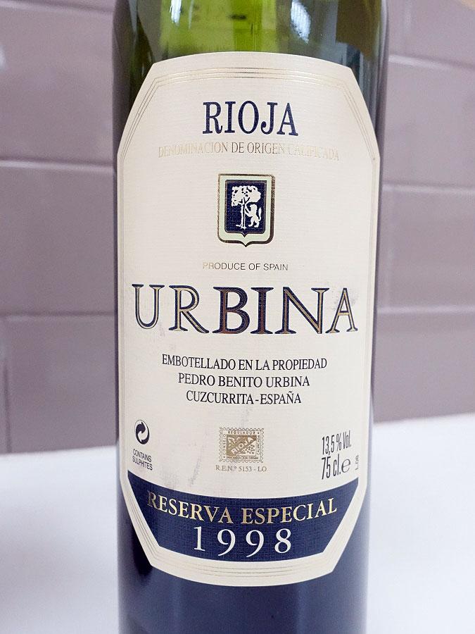 Urbina Especial Reserva 1998 (92 pts)