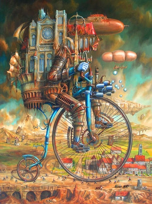 14-Jarosław-Jaśnikowski-Surreal-Paintings-of-Fantastic-Realism-www-designstack-co