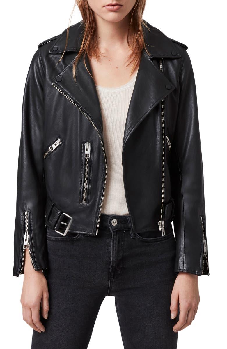 fran acciardo all saints black leather jacket nordstrom anniversary sale