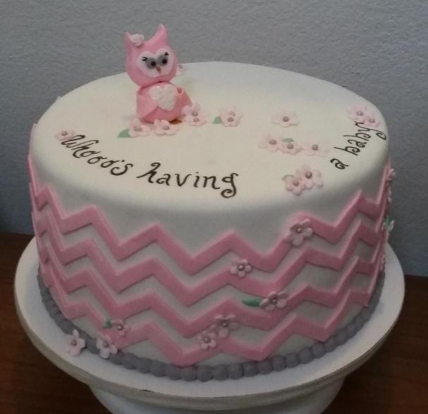 My Cake Hobby Owl Baby Shower Cake