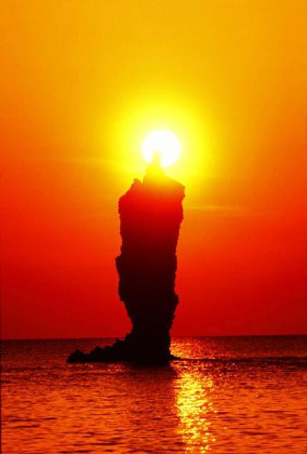 Sunset di Kepulauan Oki