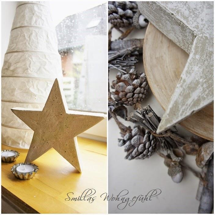 Smillas Wohngefühl: DIY: a star is born! Beton-Sterne ;-)