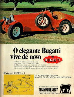 propaganda kit Bugatti - 1927 - ThunderBubby - 1975, brazilian advertising cars in the 70. os anos 70. história da década de 70; Brazil in the 70s; propaganda carros anos 70; Oswaldo Hernandez;
