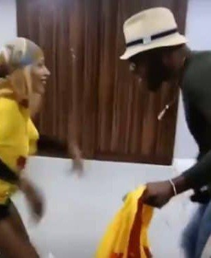 #BBNaija 2019: Frodd & Mercy seen dancing happily during a fight between Tacha and Omoshola (video)