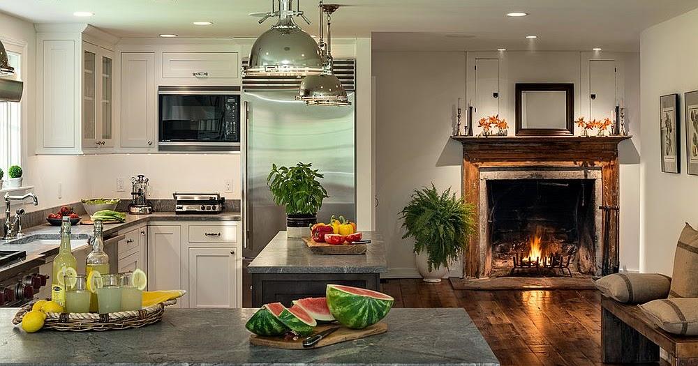 Cozinhas Com Lareira Decora 231 227 O E Ideias