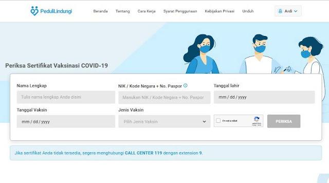 cara cek sertifikat vaksin covid19