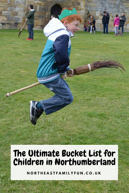 The Ultimate Bucket List for Children in Northumberland #bucketlist #Northumberland #UKBucketlist #BroomstickTraining #HarryPotter #AlnwickCastle