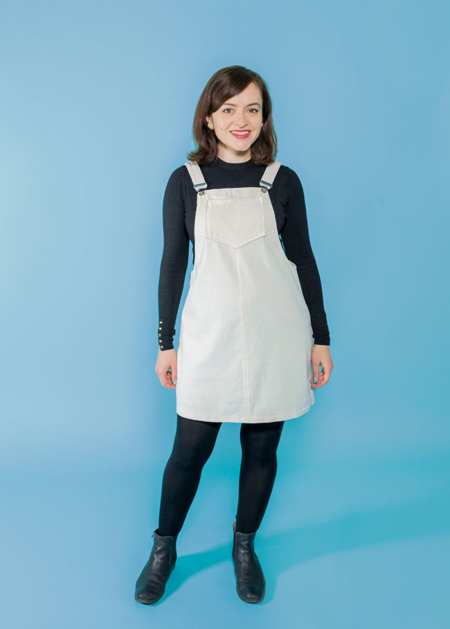 Cleo dungaree dress and pinafore sewing pattern