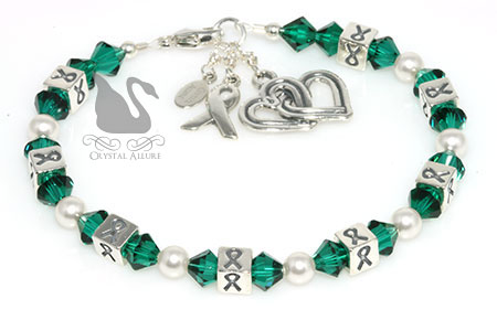 Custom Gift of Life Kidney Donor Transplant Awareness Ribbons Bracelet (B105-D7)