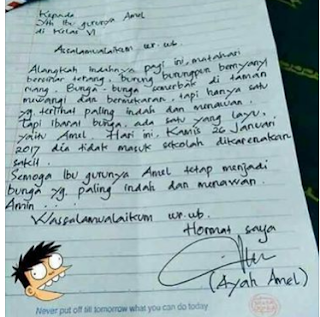 surat cinta kepada guru wali murid