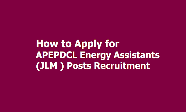 How to Apply for APEPDCL Energy Assistants (JLM Junior Lineman) Posts Recruitment 2019