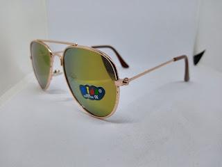 Men's fashionable  sunglasses golden Fleetworkers