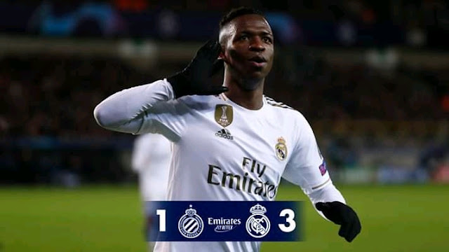 Real Madrid progressed to the next round of the Uefa Champions League after beating Club Brugge 1-3 away from home with goals coming from Rodrygo alongside Junior Junior Luka Modric.