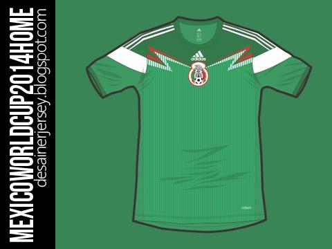fd88f47eb desainerjersey  Mexican National Football Team FIFA World Cup BRAZIL ...