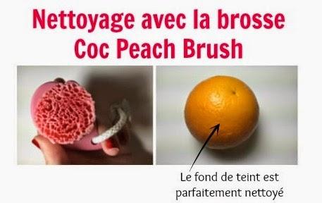 Efficacité de la brosse Coc Peach Brush, concurrente de la Tosowoong