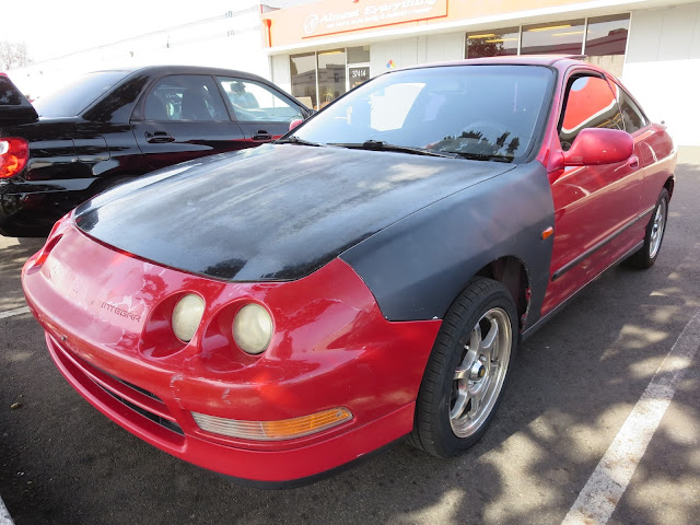 Customer did his own body repairs and just asked us to paint his 1995 Acura Integra