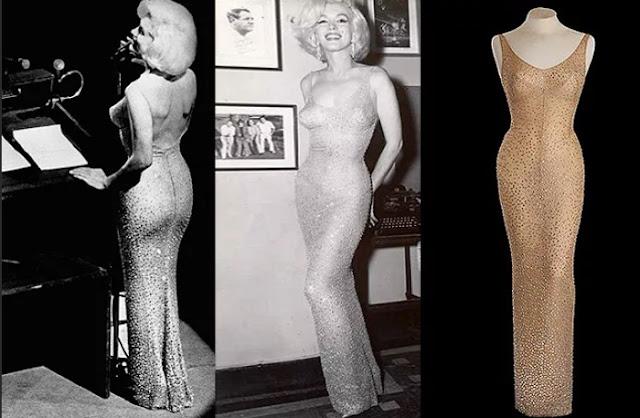 """Marilyn Monroe e seu vestido """"presidencial"""""""