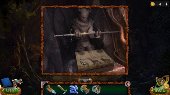 в пазе олень статуи с мечом в игре затерянные земли 4 скиталец