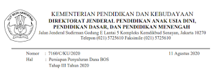 Persiapan Penyaluran Dana BOS Tahap III Tahun 2020