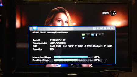 Cara Lock Intelsat 19 Dengan Dish Telkomvision