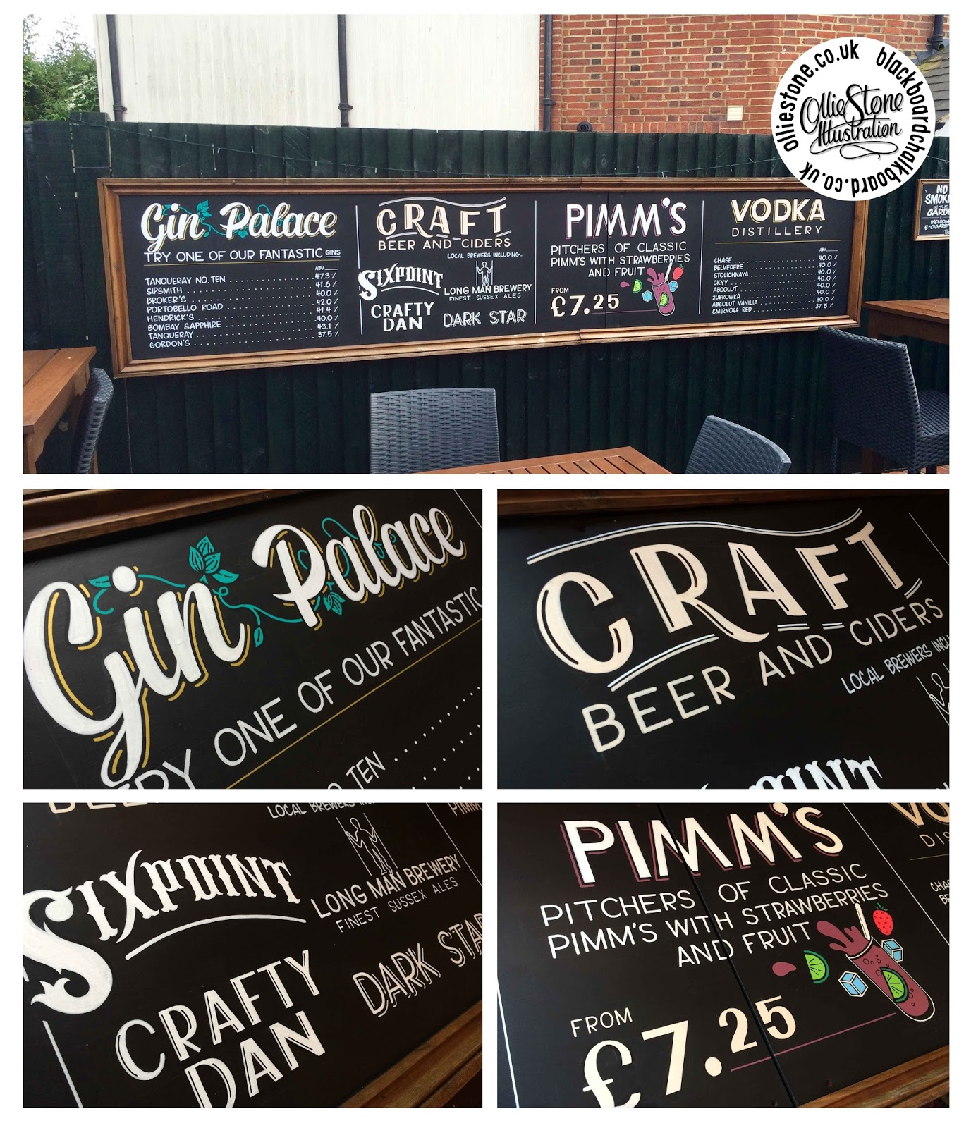 Double Sided Pavement Blackboard For Essex Hog King In Maldon. Large Outdoor  ...
