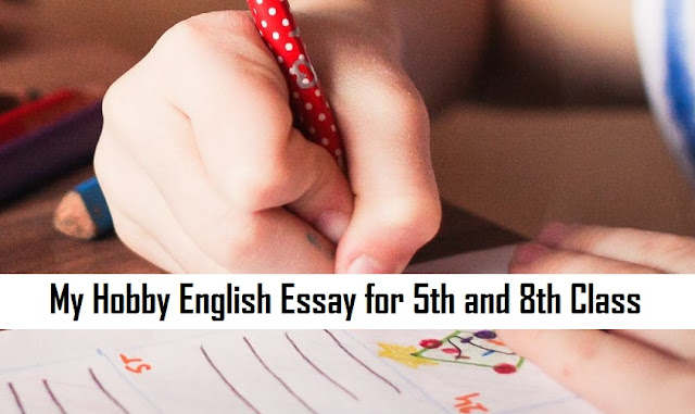 My Hobby English Essay for 5th and 8th Class