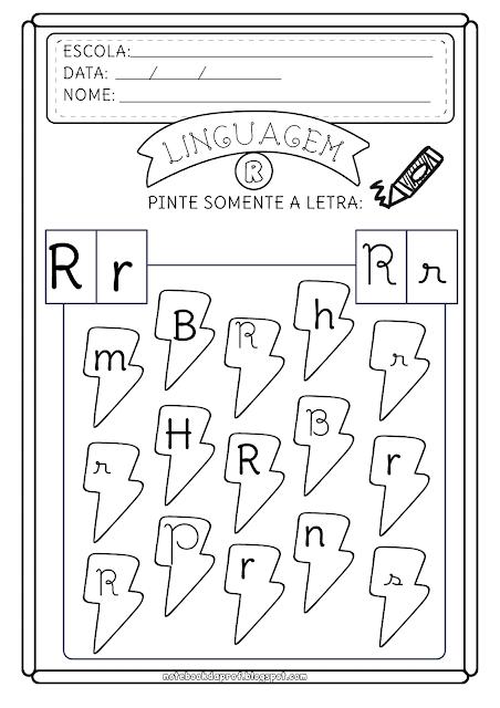 Reconhecimento letra R