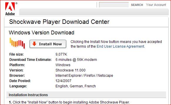 shockwave flash player 2017 free download