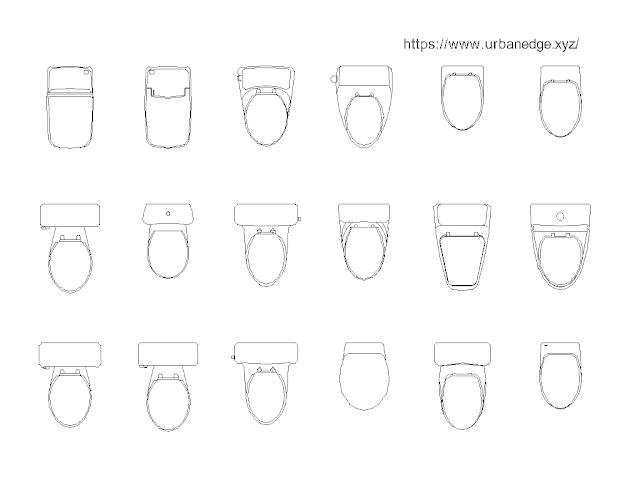 Toilet WC Plan free cad blocks - 15+ Dwg Toilet Models