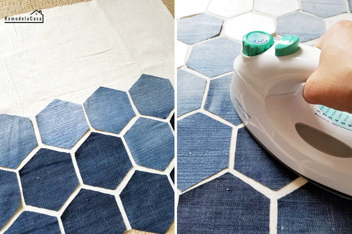 Ironing hexagons -
