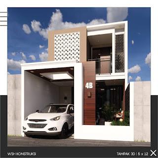 desain rumah 5 x 12 meter