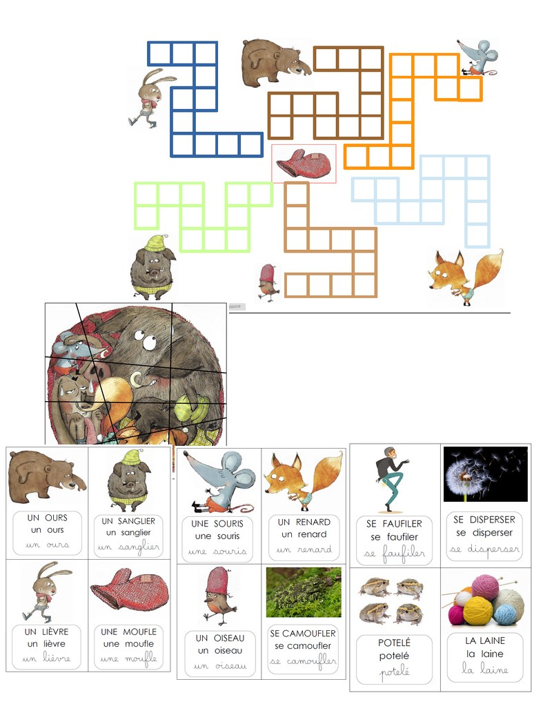 attrayant et durable les mieux notés dernier nombreux dans la variété BIBOUCHE EN CLASSE : La moufle